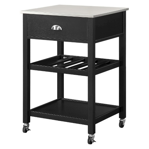 Cocina Kitchen Cart With Stainless Steel Top: Threshold Stainless Steel Top Kitchen Cart