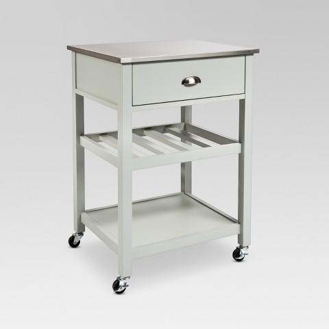 Stainless Steel Top Kitchen Cart Threshold™ Tar