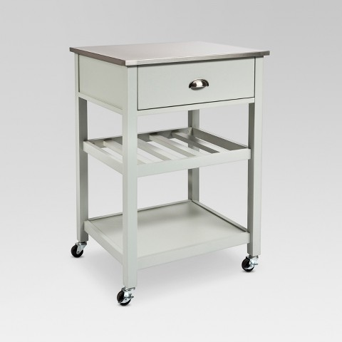 Stainless steel top kitchen cart threshold target - Target kitchen cart ...