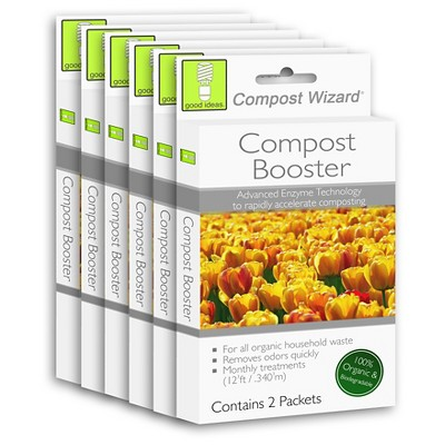 Good Ideas Compost Wizard - Compost Boost 6 Pack