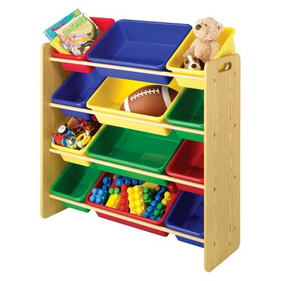 Whitmor 12-Bin Toy Organizer - Natural