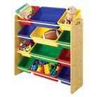 Whitmor 12-Bin Toy Organizer - Natural