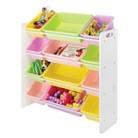 Whitmor 12-Bin Toy Organizer - White