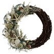 Crystal Tides Seashell and Dried Floral Wreath - 22