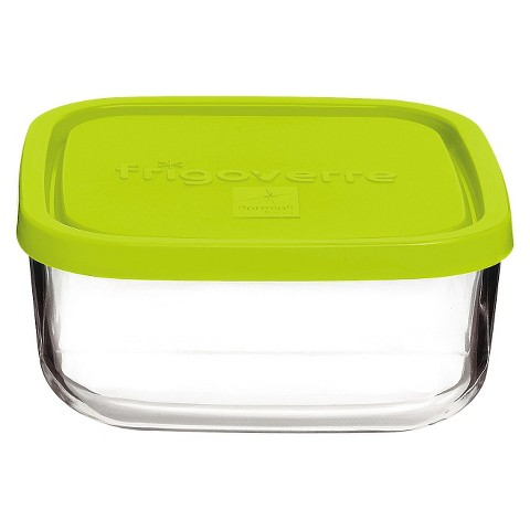 Bormioli Rocco Frigoverre Multi 25.5 oz. Medium Square Glass Bake and Serve Storage Container