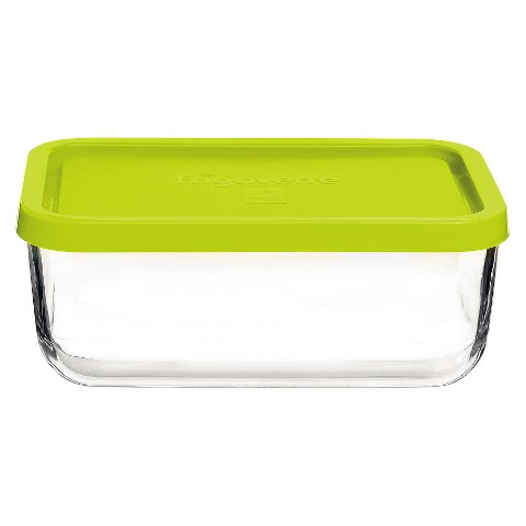 Bormioli Rocco Frigoverre Multi 37 oz. Large Rectangle Glass Bake and Serve Storage Container