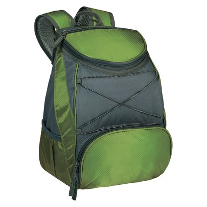Picnic Time PTX Backpack Cooler - Leaf Green / Dark Grey