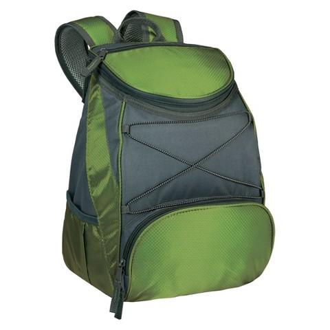 Picnic Time PTX Backpack Cooler - Leaf Green / Dark Grey