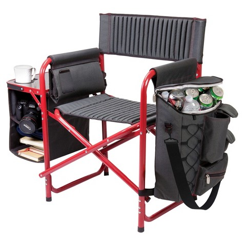 Picnic Time Fusion Chair - Dark Grey/ Red (14.0 Lb)