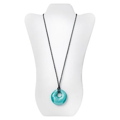 Nixi by Bumkins Gemma Silicone Pendant Teething Necklace - Aquamarine