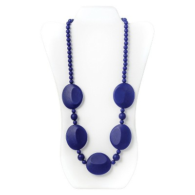 Nixi by Bumkins Pietra Silicone Teething Necklace - Navy