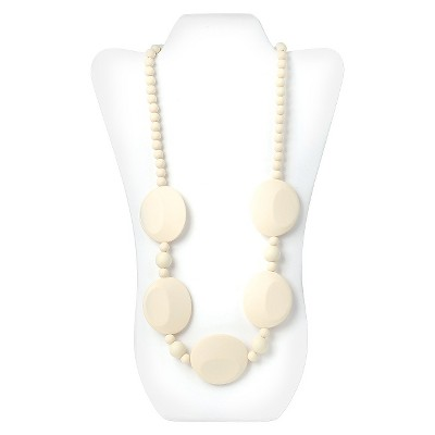 Nixi by Bumkins Pietra Silicone Teething Necklace - White