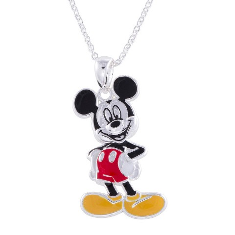 """Disney® Mickey Mouse Silver- Plated Pendant- Multicolor (18"""")"""