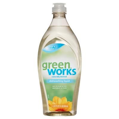 Green Works Dishwashing Liquid, Free and Clear, 22 oz