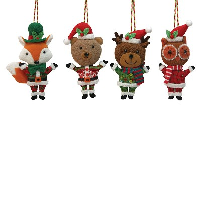 Plush Animal Ornament Assorted