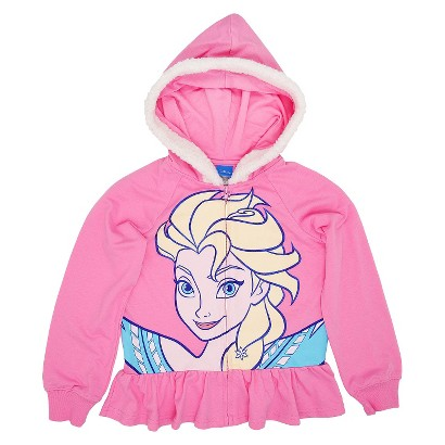 Disney Frozen Girls Costume Hoodie - Doll Pink L