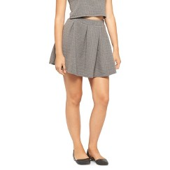 Junior's Quilted Skirt Charcoal S(3-5)