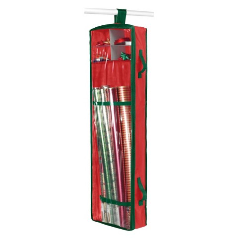 Whitmor Hanging Wrapping Paper Organizer   Red product details page 6iUXZxmQ