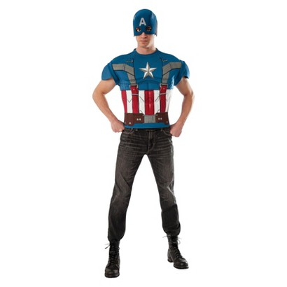 Image of Men's Captain America The Winter Soldier Retro Muscle Shirt Costume