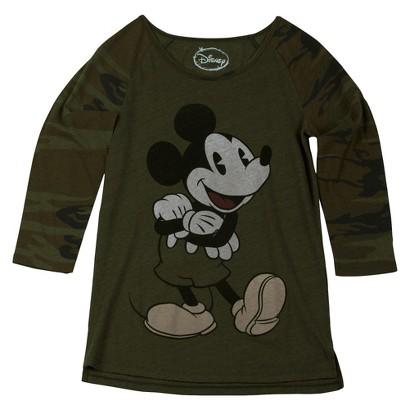 Disney Mickey Mouse Camouflage Long Sleeve Tee