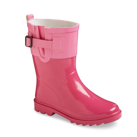 Girl's Pop Top Rain Boots - Pink