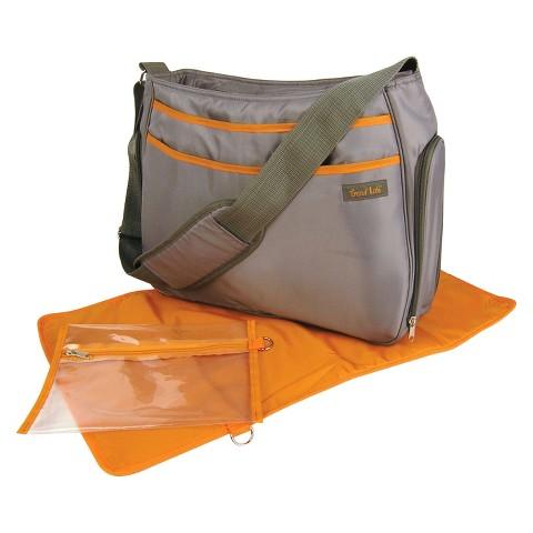 Trend Lab Hobo Diaper Bag - Gray/Orange