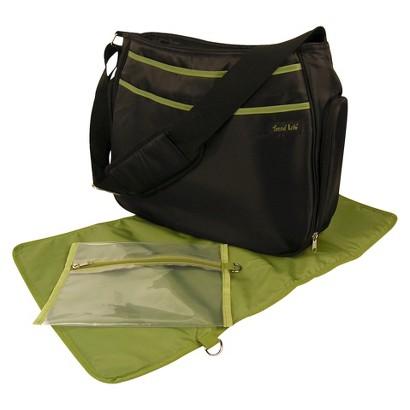 Trend Lab Hobo Diaper Bag - Black/Avocado Green