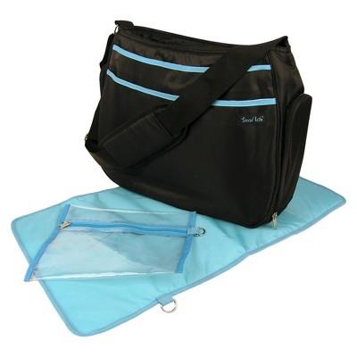 Trend Lab Hobo Diaper Bag - Black & Turquoise