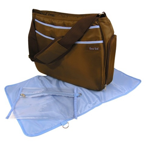 Trend Lab Hobo Diaper Bag - Brown/Blue