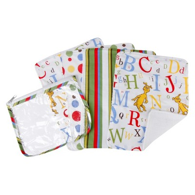 Dr. Seuss by Trend Lab 5pc Burp Cloth & Pouch Gift Set - ABC