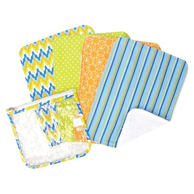 Trend Lab 5pc Baby Burp Cloth and Pouch Set - Levi