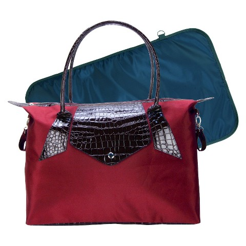 Trend Lab Rendezvous Tote Diaper Bag - Burgundy Red/Chestnut Brown