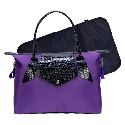 Trend Lab Rendezvous Tote Diaper Bag - Royal Purple/Black