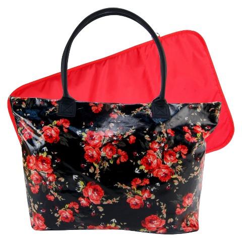 Trend Lab Carryall Tote Diaper Bag - Garden Rose Floral Mod