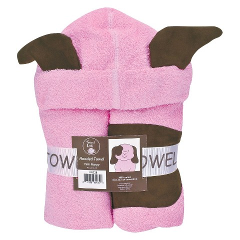 Trend Lab Baby Hooded Bath Towel - Pink Puppy