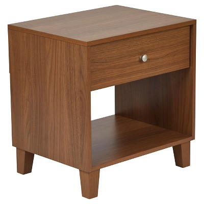 Room Essentials Accent Table with Drawer Walnut