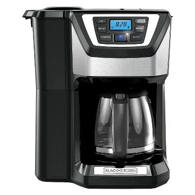 BLACK + DECKER 12-Cup Mill & Brew Coffee Maker