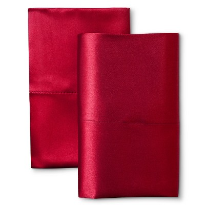 Scent-Sation Charmeuse II Satin Pillow Case - Red (King)