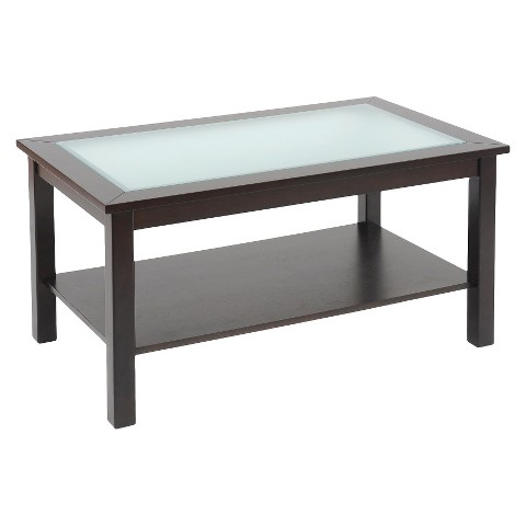 rectangular glass top coffee table with shelf es target
