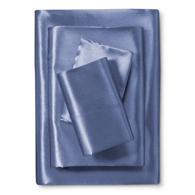 Scent-Sation Charmeuse II Satin Sheet Set - French Blue (Full)