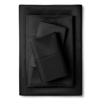 Scent-Sation Whispersilk 340TC Satin Sheet Set - Black (Full)