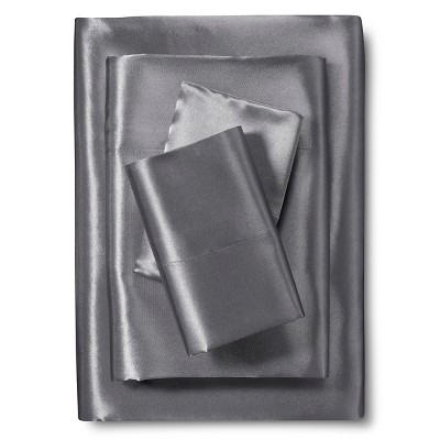 Scent-Sation Charmeuse II Satin Sheet Set - Charcoal (California King)