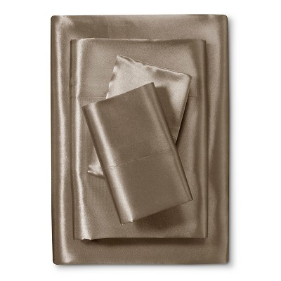 Scent-Sation Charmeuse II Satin Sheet Set - Mocha (King)