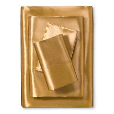 Scent-Sation Charmeuse II Satin Sheet Set - Gold (King)