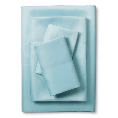 Scent-Sation Whispersilk 340TC Satin Sheet Set - Aqua (California King)