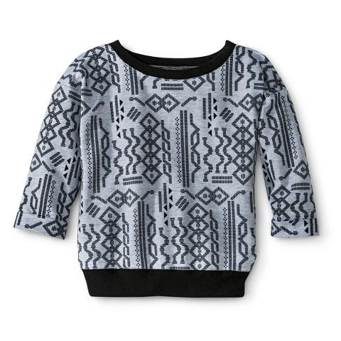 Girls' 3/4 Sleeve Sweatshirt