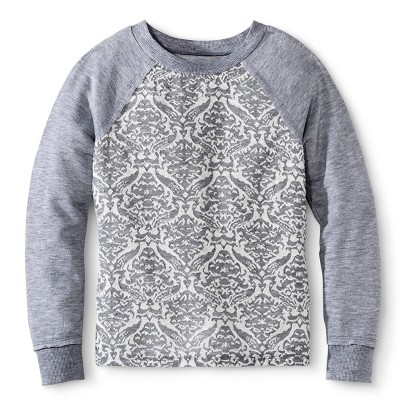 Miss Chievous Girls' Toile Burnout Pullover