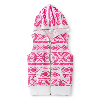 Miss Chievous Girls' Hooded Sleeveless Sweatshirt