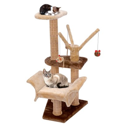 Cat-Life Lounger with Play Tree, Climbing Tower and Scratching Posts
