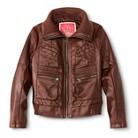 Girls' Faux Leather Bomber Jacket